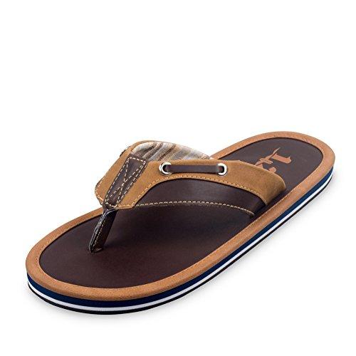 sandales d'été/Pantoufles plats anti-dérapant/Souliers de plage semelle épaisse en plein air/Sandales Casual orteil A
