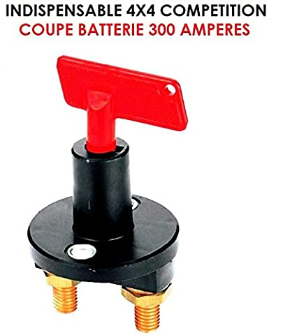 QUALITE MARINE ! 12V - 24V ! INDESTRUCTIBLE COUPE BATTERIE FORCE 300 AMPERES! COUPE CIRCYUIT + ANTIVOL ! 4X4 RAID TRIAL QUAD CROSS VHC RALLYE AUTO MOTO CAMION CAMPING-CAR SIRENE KLAXON OUTILLAGE ACCESSOIRES SCOOTER YOUNGTIMERS BATEAU MARINE LCM0817