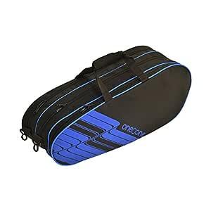 One O One - Lines Collection Triple Black Blue Badminton Kitbag/Tennis Kitbag