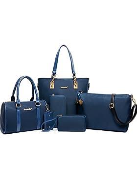 fanhappygo Fashion Retro Nylon Bildpaket Abendtaschen Damen Schulterbeutel Umhängetaschen a set