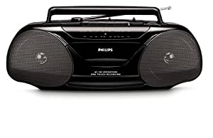 Philips AQ5130/98 lecteur/enregistreur cassettes - lecteurs/enregistreurs cassettes (Stereo, AM, FM, Noir, LR20, Alcaline, 400 x 100 x 150 mm)