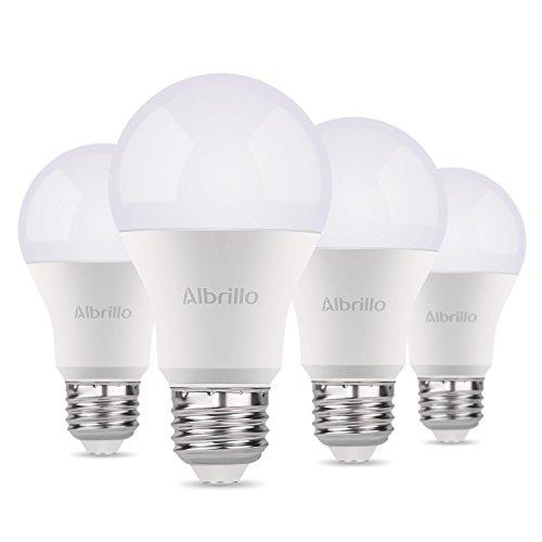 Preisvergleich Produktbild Albrillo 9W E27 LED Lampe 800 Lumen, 3000K warmweiß, 220° Abstrahwinkel, 4er Pack