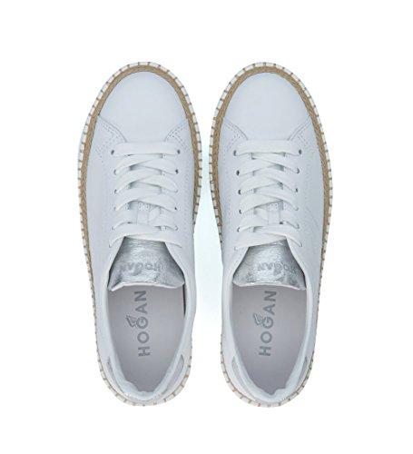 Hogan Sneaker R260 in Pelle Bianca e Argento Bianco