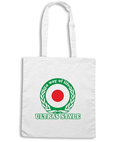 T-Shirtshock - Borsa Shopping T0929 ultras style a way of life calcio ultras Bianco