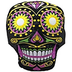 OOTB - Cojín Decorativo, diseño de Calavera Mexicana, Color Negro