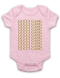 021f12089601 Inspired Apparel Inspire par Lil Pump Gucci Gang Gold Print Officieux Bébé  Barboteuse Bodys