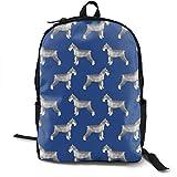 Hipiyoled Schnauzer Hunderucksäcke für Frauen Männer, Computer Laptop Rucksack, Casual Book Bag Travel Camping Daypack