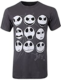 Nightmare Before Christmas Jacked Face Men's T-Shirt Charcoal