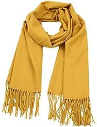cashmere Écharpe Femme hiver Châle Uni douce chaude Automne-Hiver couleur  aux choix taille  093c08af166