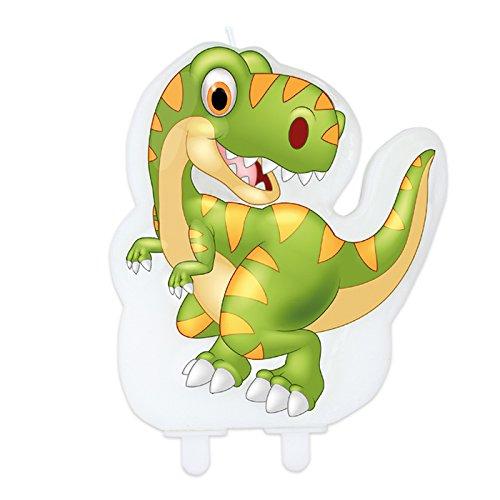 Big Party Dimav s.r.l. Kerze zu Form(Formular) des Dinosauriers, Ideal Für Parteien zu Thema, Geburtstag-Kinder.
