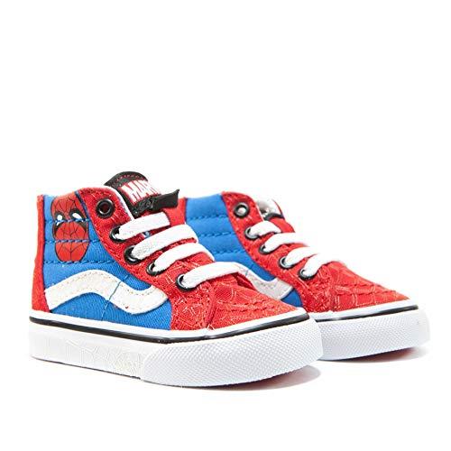 Vans Marvel Kinder Spider-Man/True Weiß SK8-Hi Sneakers-UK 6 Kinder