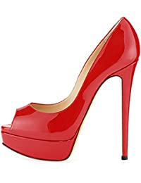 uBeauty - Scarpe da Donna - Scarpe col Tacco - Scarpe con plateau - Scarpe peep toe
