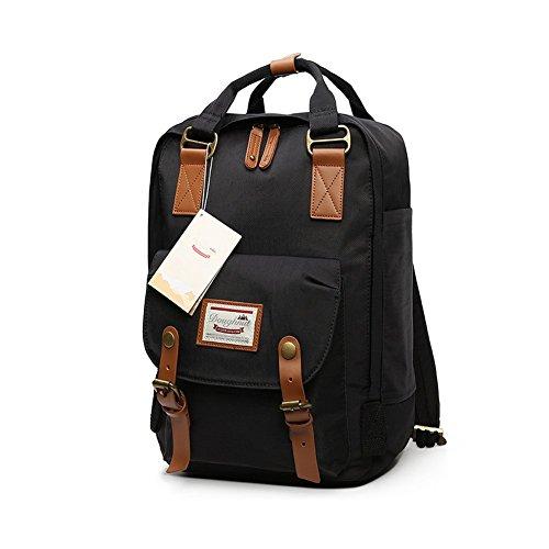 LIYULI Damen outdoor Rucksack Mode Schulrucksack für Mädchen Backpack Rucksack schulrucksack rucksäcke mit Laptopfach für Camping Outdoor Sport (Schwarz) -