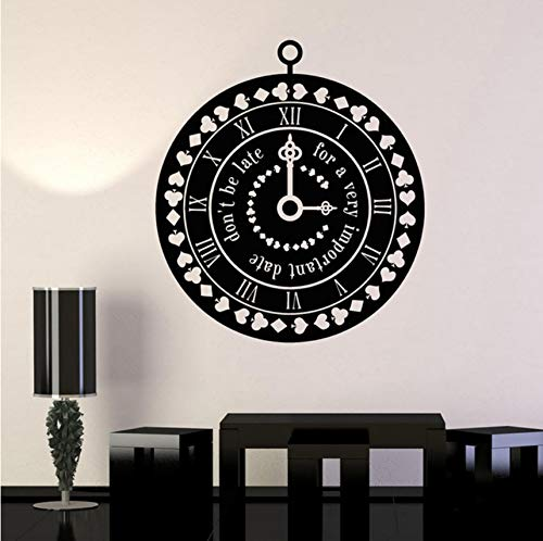 Time Suit Cards Fairy Tale Nursery Design vinyl wall decal home decor diy art mural wallpaper removable wall stickers 58x65cm