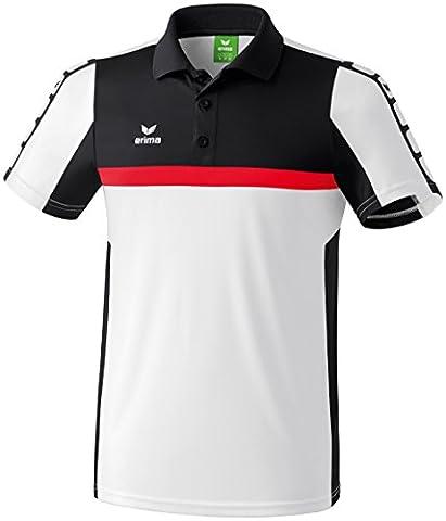 Erima Classic 5-Cubes Polo Homme Blanc/Noir/Rouge FR : XL (Taille