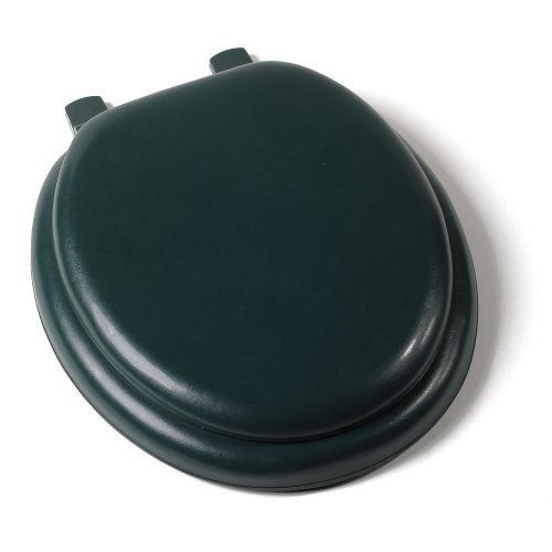 Comfort Seats C1B5R260 Deluxe Soft Toilet Seat with Wood Cores, Round, Forest Green by Comfort Seats
