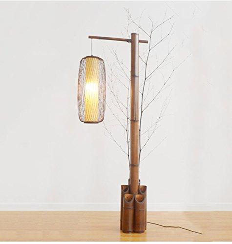 Stehlampe MEILING Chinesische Stil Vertikale Tischlampe Sofa Licht Retro Zen Stehleuchte Wohnzimmer Schlafzimmer Klassische japanische Stil Fischerei Lampe (Farbe : Holz) -
