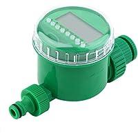 BNSPLY Temporizador de Agua automático 3/4 19mm Rosca Temporizador de riego automático con Pantalla LCD 1m - 9h 59m Temporizador de riego Digital Irrigación automática para jardín