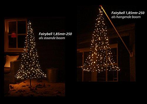 Illuminazione Esterna Natale : Fairybell albero di natale artificiale con m per l