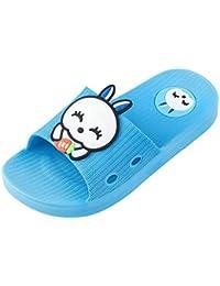 Moneycom - Pantuflas antideslizantes para niños o niñas, diseño de conejo, zapatillas antideslizantes, para exteriores, suaves, con cristales ligeros