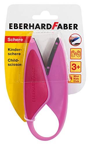 Eberhard Faber 579928 Forbici per Bambini per Mancini e destrorsi perfette per Il Taglio e Il Fai da Te Colore Rosa