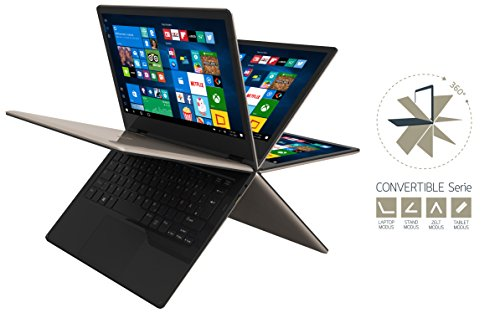 Odys Shape Pro 295 cm 116 Zoll extensive HD IPS showcase Convertible Tablet PC Intel Atom Quadcore x5 Z8350 2GB RAM 32GB show HDD minuscule HDMI 1x USB 30 1x USB 20 Win 10 gold Notebooks