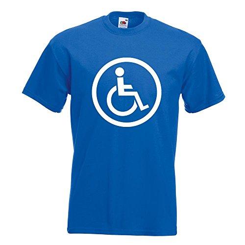 KIWISTAR - Rollstuhlfahrer Design 2 T-Shirt in 15 verschiedenen Farben - Herren Funshirt bedruckt Design Sprüche Spruch Motive Oberteil Baumwolle Print Größe S M L XL XXL Royal