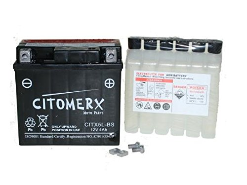 Batterie 12V 4AH für Aprilia SR50, Scarabeo, Baotian BT49QT, Beta, RR, Buffalo Speedy, China Roller, BT50QT, CPI Oliver, Hussar, Popcorn 25 50