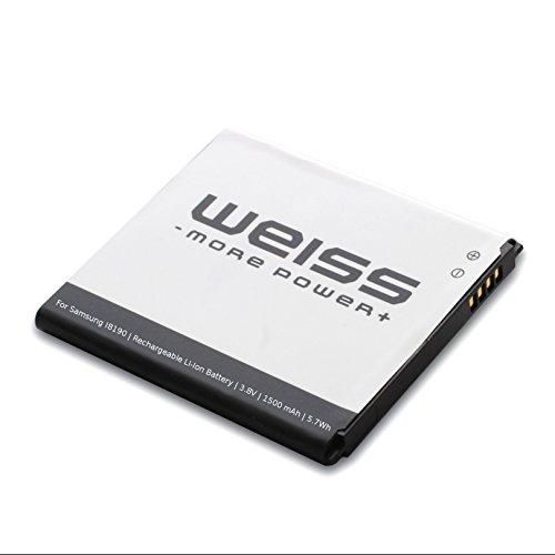 Weiss - More Power + Batterie pour Samsung Galaxy S3 Mini GT-I8190 / Ace 2 (GT-I8160 / GT-I8160P) / S Duos (GT-S7562 / GT-S7560) 1500mAh [comp.: EB425161LU / EBF1M7FLU / EB-B130BE] Li-ION