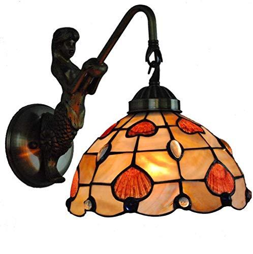 uchten 8 Zoll Glückliches Herz Farbige Shell Shaded Mermaid Swing Arm Wandleuchten für Hotel Bar Dekoration Lampe, 110-240V / E27 / E26 ()