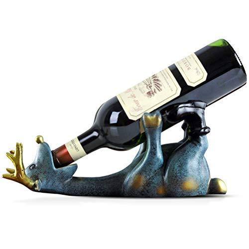 ZYM Weinregale Kleine Weinflaschenhalter Arbeitsplatte Weinregale Lustige Hirsch Dekorative Wein...