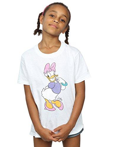 Disney Mädchen Mickey Mouse Classic Daisy Duck T-Shirt 5-6 Years Weiß