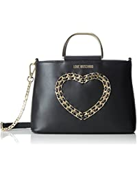 Borsa Vitello Bottalato Nero, Womens Shoulder Bag, Black, 6x17x22 cm (B x H T) Love Moschino