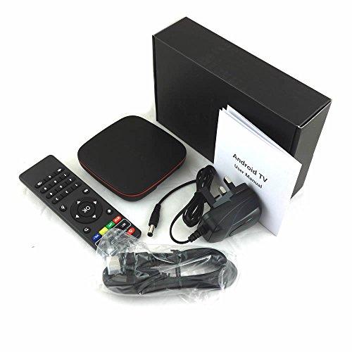 Q Mini Android TV Box 2GB Ram 16GB Rom Qual Core Built-in 802.11N WI-FI Bluetooth 4.0 Supports 4K 10-bit 60fps H.265 LAN…