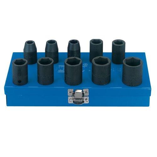 Draper 33668 Schlag-Steckschlüsselsatz 1/2 Zoll Vierkantantrieb 10-teilig