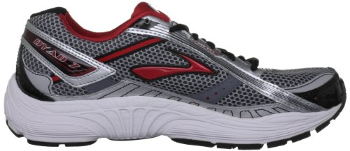Brooks - Sneaker Dyad 7 M, Uomo rosso (Rot (Red/Silver/Grey/White))