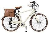 Canellini E Bike Dolce Vita by Pedalata assistita Bicicletta Elettrica EBIKE E-Bike Bici Citybike CTB Uomo Vintage Retro Alluminio Panna