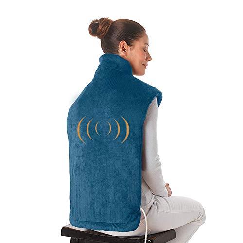 Preisvergleich Produktbild Qxlk Elektrische Heizung Massage Schal, Flanell entlastet die Nacken- und Schultermuskulatur, Ultra-Lange Massage-Hot-Pack-Massagegerät(Geschenk)