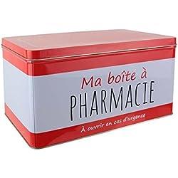 LA BOITE A BT6555 Boîte à Pharmacie Métal Rouge 29,50 x 18,50 x 16 cm