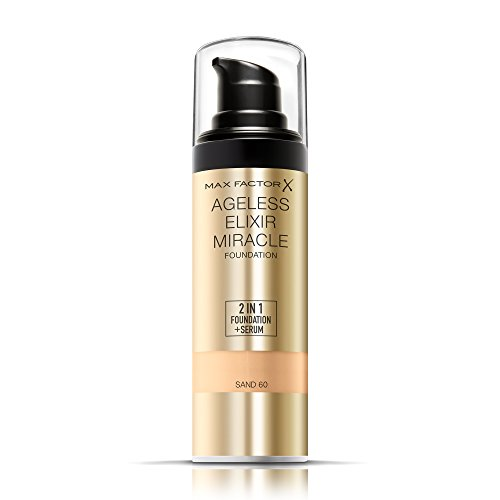 Max Factor Ageless Elixir 2 in 1 Foundation + Serum 60 Sand, 1er Pack (1 x 30 ml)