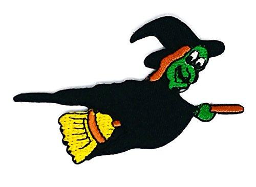 Hexe auf einem Bloom Cartoon Jacke T-Shirt Patch Sew Iron on gesticktes Badge Schild oder (Hexe Tuch Gute)