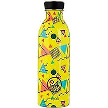 24 BOTTLES Urban Geometric Collection Bottiglia d' Acqua, Big Bubble Yellow, 500 ml
