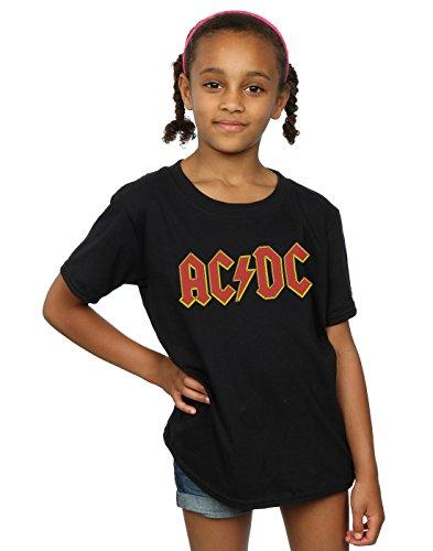 AC/DC niñas Red Logo Camiseta 12-13 years Negro