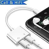 Adapter und Ladeadapter für Phone 7/7 Plus/8/8 Plus/X/10,Unterstützung Music Control ,Aufladen und Anrufen,Adapter Kopfhörer und Laden für IPhone 8/8plus ,(Kompatibel mit IOS 11/10.3 System) - weiß