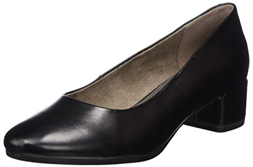 Tamaris Damen 22303 Pumps Schwarz (BLACK LEATHER 003)