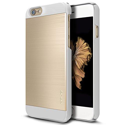 Obliq OBIP6P-SMAII06 Slim Meta II Case für Apple iPhone 6 Plus/6S Plus rosa/gold Gold / White