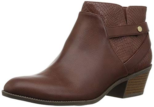 Dr. Scholl's Shoes Damen Behold Stiefelette, Copper Brown Smooth/Snake Print, 39.5 EU -