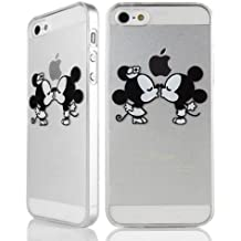 Sufs - Carcasa para iPhone, transparente, diseño de Disney, Mickey Mouse Kiss, iPhone 6 Plus / 6S Plus