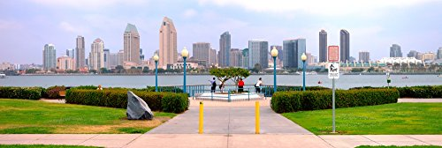 The Poster Corp Panoramic Images - San Diego Skyline from Coronado Island San Diego County California USA Photo Print (91,44 x 30,48 cm) -