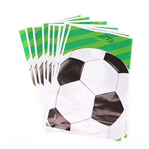 SMHILY 20 Teile/los Fußball Fußball Cartoon Süßigkeiten Geschenk Taschen Favor Birthday Party Dekorationen Kinder Erwachsene Für Home Party Supplies World Cup (Mit Kunststoff-cups Handwerk Halloween)